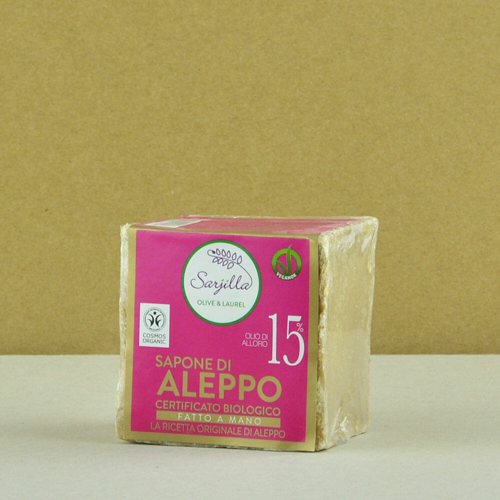 Solid Aleppo organic soap 15% Sarjilla. Buy now!